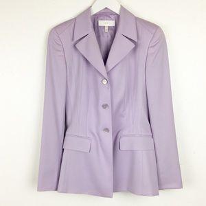 Escada Size 34 Purple 3 Button Suit Wool Blazer